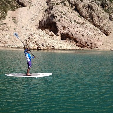 Stand up paddling Zrmanja river